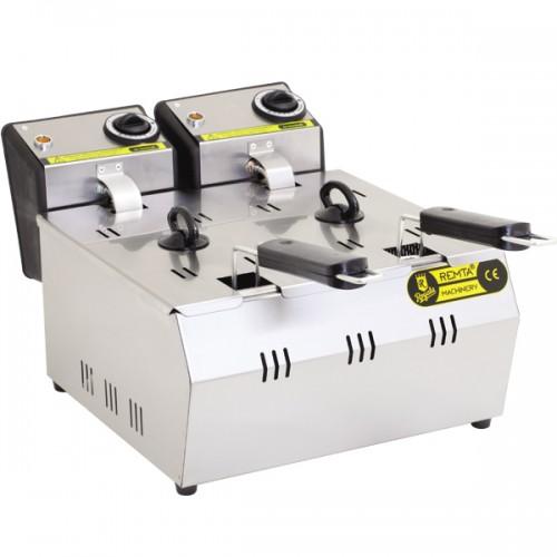 Фритюрница профессиональная электрическая R92 Remta (3+3 л)