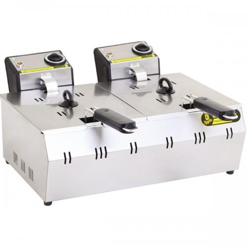 Фритюрница профессиональная электрическая R93 Remta (5+5 л)